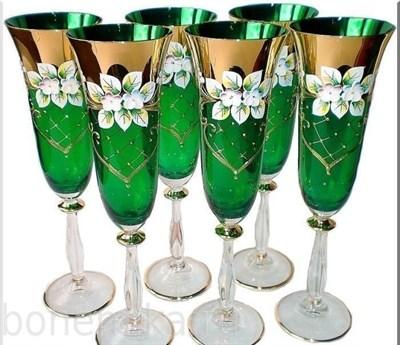 Фужеры для шампанского, 6 штук, 190 мл - фото 11085