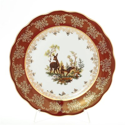 Тарелка Carlsbad Фредерика Охота Красная 17 см(1 шт) - фото 11101