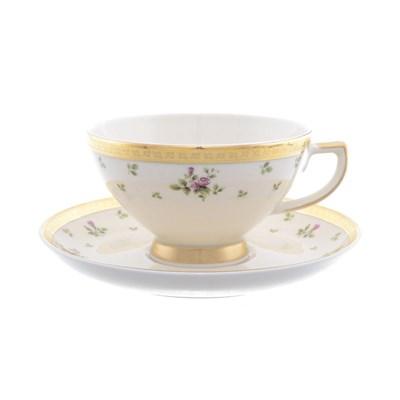 Набор чайных пар Falkenporzellan Constanza cream - Primavera Gold - фото 11125