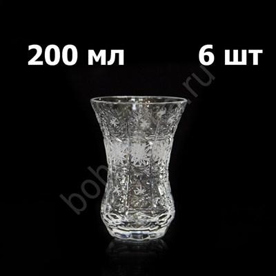 """Хрустальные стаканы для чая """"Армуды"""", 6 штук по 200 мл - фото 11158"""