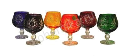 Набор бокалов для коньяка, цветной хрусталь, 150 мл - фото 11174