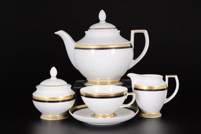 Чайный сервиз Falkenporzellan Cobalt Gold 6 персон 17 предметов - фото 11232