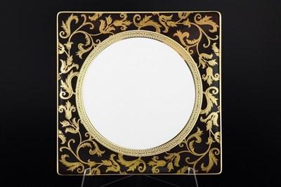 Набор тарелок квадратных Falkenporzellan Tosca Black Gold 27см (6 шт) - фото 11234