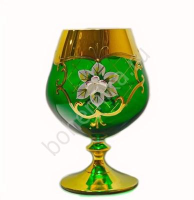 Набор бокалов для бренди зеленая лепка (6 штук) - фото 11263