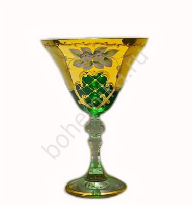 Набор бокалов для мартини зелёная лепка (6 штук) - фото 11267