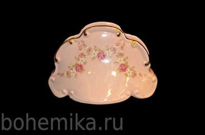 """Салфетница """"Соната"""" розовый фарфор - фото 11359"""