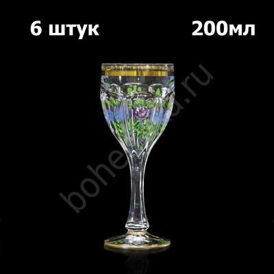"Набор бокалов для вина ""Safari цветы"" (6 бокалов) - фото 11377"