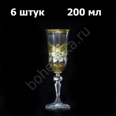 """Набор бокалов для шампанского """"Кристина"""" (6 штук) - фото 11396"""