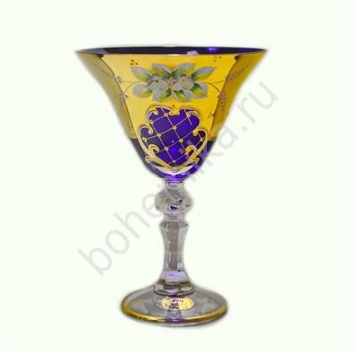 Набор бокалов для мартини (синяя лепка, 6 штук) - фото 11410