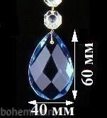 """Подвеска для люстры из цветного хрусталя """"Голубая"""" (505/30) - фото 11547"""