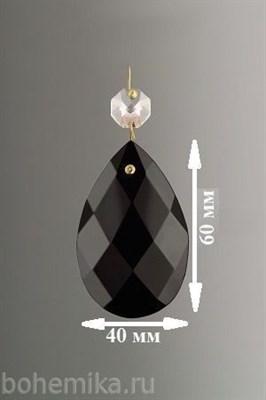 """Подвеска для люстры из цветного хрусталя """"Черная"""" (505/40) - фото 11548"""