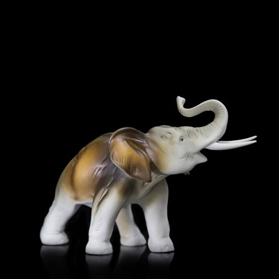 "Статуэтка ""Слон"" 22 см, фарфор - фото 11566"