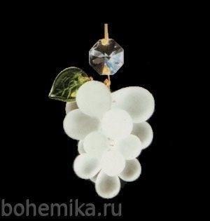 """Виноградная подвеска """"малая гроздь"""" белая - фото 11573"""