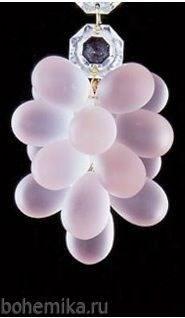 """Виноградная подвеска """"большая гроздь"""" розовая - фото 11578"""