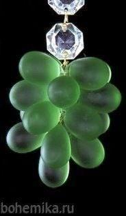 """Виноградная подвеска """"большая гроздь"""" зеленая - фото 11579"""