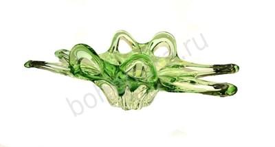 "Фруктовница ""Crab"" зеленое стекло - фото 11803"