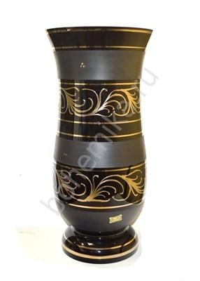 Ваза 40 см черная с золотом - фото 11810