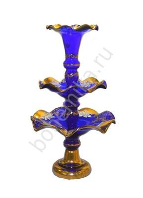 Горка - этажерка 3 ярусная, синяя лепка - фото 11816
