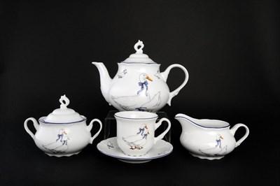 Чайный сервиз Thun Констанция Гуси 6 персон 17 предметов - фото 12890