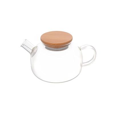 Чайник заварочный с бамбуковой  крышкой Royal Classics 600 мл,13*11 см. - фото 24986