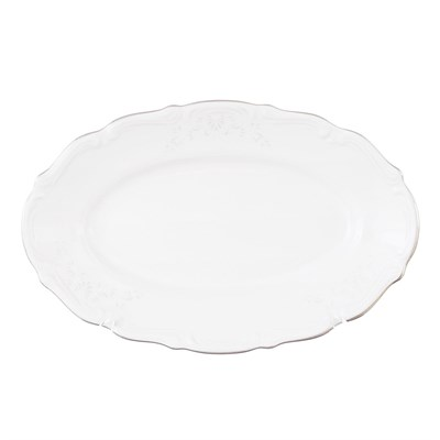 Блюдо овальное  плоское 22 см Repast Свадебный узор - фото 25002
