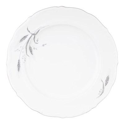 Блюдо круглое 32 см Repast Серебряные колосья - фото 25003