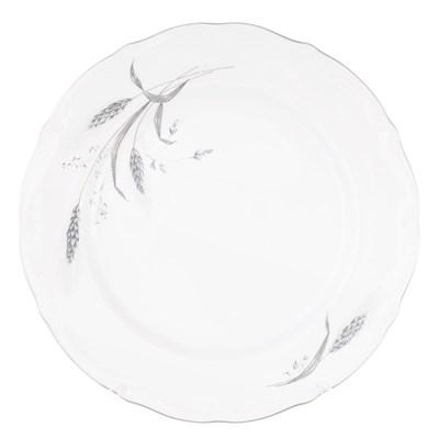 Набор плоских тарелок 25 см Repast Серебряные колосья (6 шт) - фото 25007