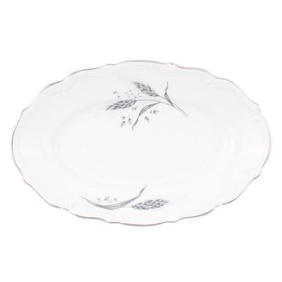 Блюдо овальное плоское 22 см Repast Серебряные колосья - фото 25010