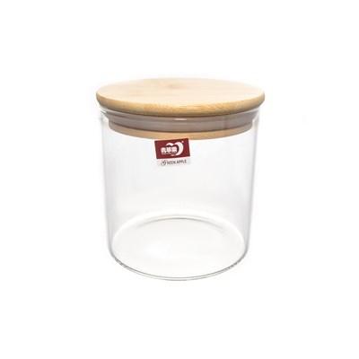Банка для сыпучих продуктов с бамбуковой крышкой royal classics - фото 25023