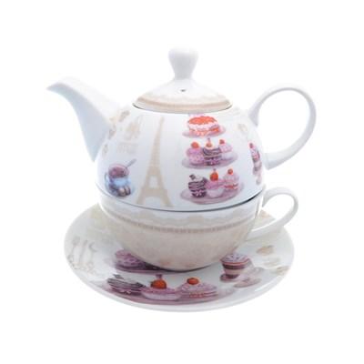 Набор чайник с крышкой + чашка + блюдце royal classics 3 предмета - фото 25094