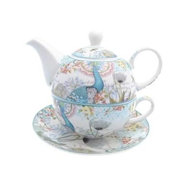 Набор чайник с крышкой + чашка + блюдце royal classics 3 предмета - фото 25095
