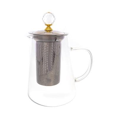 Чайник с металлическим ситом royal classics 750 мл - фото 25170