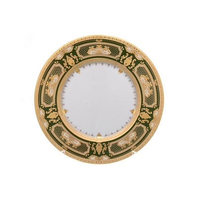 Набор тарелок Falkenporzellan  Donna Green gold 23 см (6 шт) - фото 25193