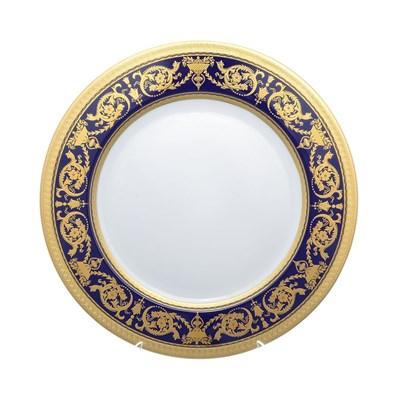 Блюдо круглое Falkenporzellan Imperial Cobalt Gold 32 см - фото 25195