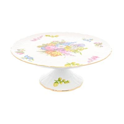 Тарелка для торта на ножке Bernadotte Весенние цветы 32 см - фото 27701