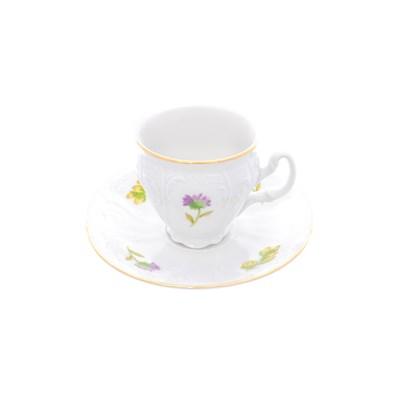 Набор кофейных пар Bernadotte Весенние цветы 90 мл(6 пар) - фото 27712
