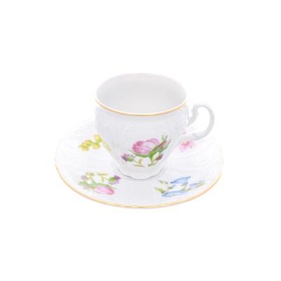 Набор кофейных пар Bernadotte Весенние цветы 170 мл(6 пар) - фото 27714
