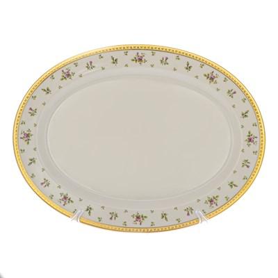 Блюдо овальное 36 см Falkenporzellan Constanza cream - Primavera Gold - фото 28288