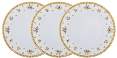 Набор глубоких тарелок 23 см Falkenporzellan Constanza cream - Primavera Gold - фото 28305