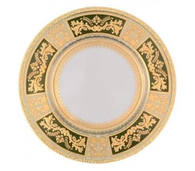Тарелка Falkenporzellan Diadem Green Mint Gold 21см(1 шт) - фото 28562
