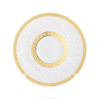 Блюдце Falkenporzellan Constanza Diamond White Gold (1 шт) - фото 28563