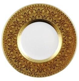 Тарелка Falkenporzellan Diamond Full Gold 21см(1 шт) - фото 28564