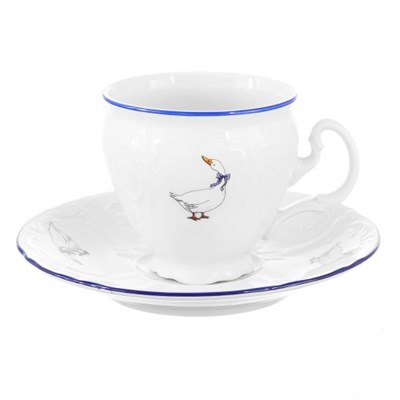Чашка от кофейных пар170 мл Bernadotte Гуси - фото 28903