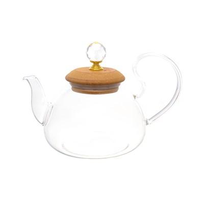 Чайник с бамбуковой крышкой royal classics - фото 32201