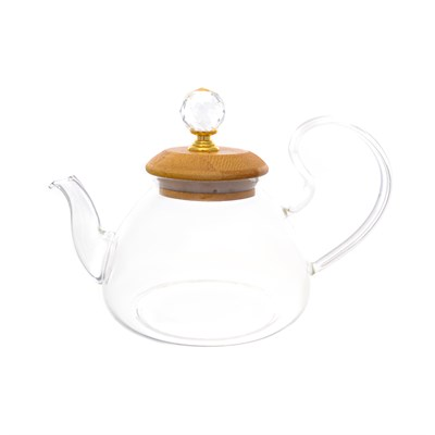 Чайник с бамбуковой крышкой royal classics - фото 32202