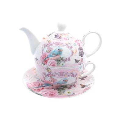 Набор чайник с крышкой + чашка + блюдце royal classics 3 предмета - фото 32210