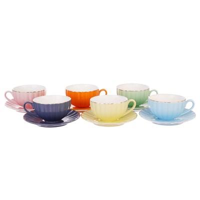 Набор чайных пар Royal Classics 220мл (6 пар) - фото 32562