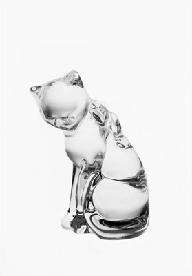 Фигурка Кошка, 9 см хрусталь ANIMALS - фото 38975