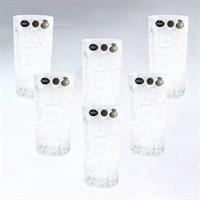 Хрустальные стаканы для сока, 6 штук по 400 мл