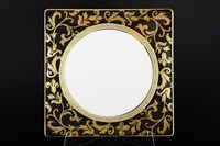 Набор тарелок квадратных Falkenporzellan Tosca Black Gold 27см (6 шт)